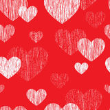 Love heart seamless pattern. Happy Valentines day wallpaper. Lov Royalty Free Stock Photography
