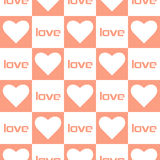 Love heart seamless pattern Royalty Free Stock Photography