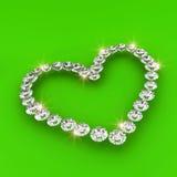 Love heart shape 3d diamond art illustration Stock Photography