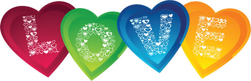 Love with Heart Shape. Colorful LOVE word using heart shape Royalty Free Stock Photos