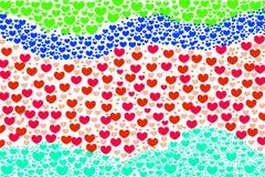 Love heart shape beautiful background Stock Photo