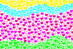 Love heart shape beautiful background Stock Images