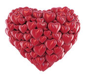 Love Heart. Heart shape made of many hearts Royalty Free Stock Photography
