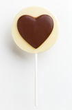 Love heart shaped chocolate lolly Stock Images