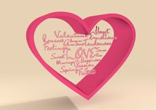 Love and heart Stock Photography