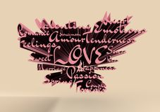 Love and heart Royalty Free Stock Photo