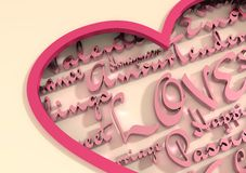 Love and heart Royalty Free Stock Images