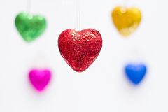 Love. Heart shaped materials for valentine's day stock image