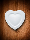 Love heart shaped plate Stock Images