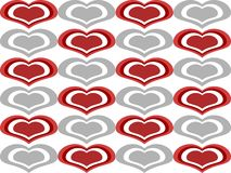 Love Heart Shapes Seamless Background Royalty Free Stock Photography