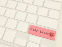 With love, heart on shift  key Royalty Free Stock Photo