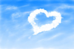 Love heart in the sky Stock Photos