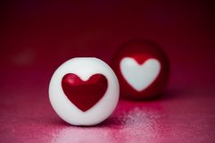 Love heart spheres Royalty Free Stock Images