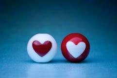 Love heart spheres Royalty Free Stock Photos