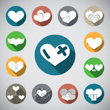 Love heart spot icon Royalty Free Stock Image