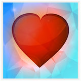 Love heart square banner Royalty Free Stock Photos
