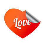 Love heart sticker. Stock Images