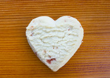 Love heart strawberry shortcake Royalty Free Stock Photos