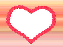 Love heart on striped background, pastel colors Stock Photo