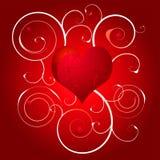 Love heart swirl white Stock Images