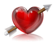 Love Heart Symbol With Arrow Stock Photography