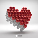 Love heart symbol. Design element. 3d vector Royalty Free Stock Images