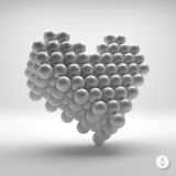 Love heart symbol. Design element. 3d vector Stock Photos