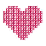 Love, heart symbol made of 3d abstract  squares Stock Photo