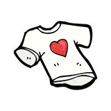 Love heart tee shirt cartoon Royalty Free Stock Photos