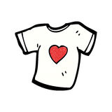 Love heart tee shirt cartoon Royalty Free Stock Photo