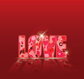 Love heart template background vector Stock Images