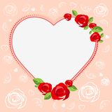 Love heart. Template cards for Valentines Day Royalty Free Stock Image
