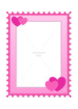 Love And Heart Theme Photo Frame Template Stock Image