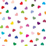 Love heart tiling background. Romantic seamless pattern with hea Royalty Free Stock Photos