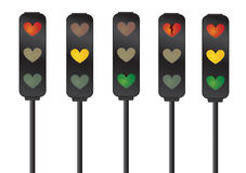 Love/Heart Traffic Signals Stock Image
