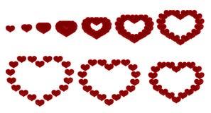 Love - heart transformation Royalty Free Stock Image