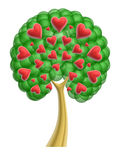Love heart tree Stock Images