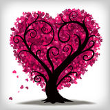 Valentines Day Love Heart Tree. A curly, heart shaped tree with little pink hearts for leaves Royalty Free Stock Photo