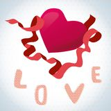Love and heart. valentine card with a red heart Stock Photo