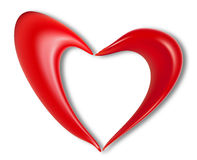 Love heart valentine day. Description: Heart on Valentine's Day, vector art illustration of love Royalty Free Stock Images