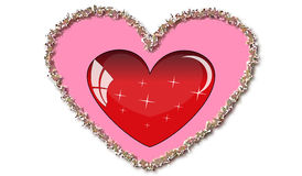 Love heart. Valentine day illustrate Stock Images