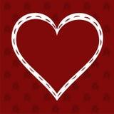 Love Heart on Valentine's background Stock Image