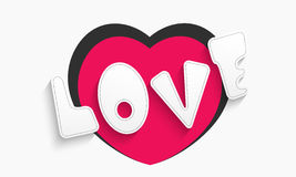 Love with heart for Valentines Day celebration. Stock Image