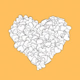 Love heart Valentine shape Royalty Free Stock Images