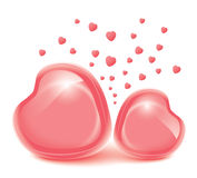 Love heart. Valentines day. Frame for photos Royalty Free Stock Photo