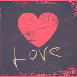 Love Heart Valentines day Greeting card Retro royalty free stock photography
