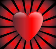 Love heart vector illustration Royalty Free Stock Images