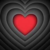 Love heart vector retro background Royalty Free Stock Photography