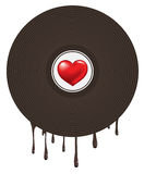 Love Heart in Vinyl Royalty Free Stock Photo