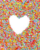 Love, heart, wedding, rainbow confetti background, Royalty Free Stock Photo